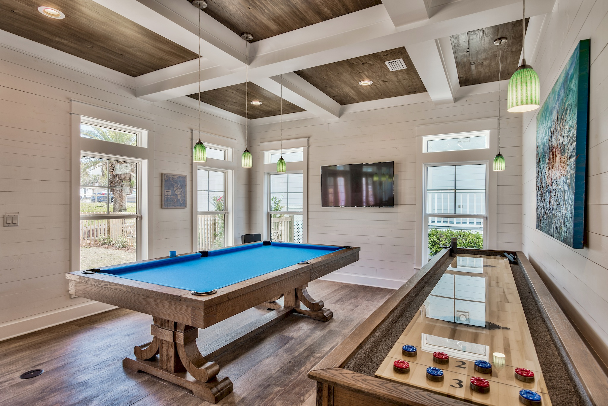 Chill Pill pool table and shuffleboard for gathering your gr